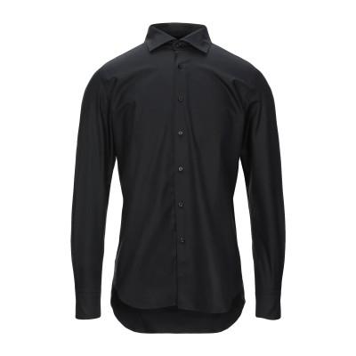 XACUS シャツ ブラック 38 コットン 100% シャツ