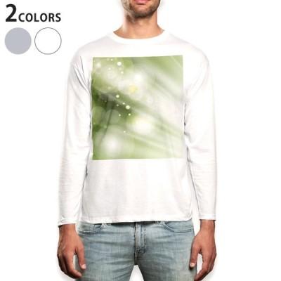 ロングTシャツ メンズ 長袖 ホワイト グレー XS S M L XL 2XL Tシャツ ティーシャツ T shirt long sleeve  シンプル 模様 緑 001842