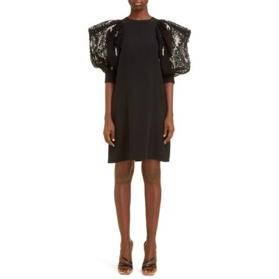 ジバンシー レディース ワンピース トップス Embellished Sleeve Crepe Dress BLACK