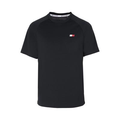 TOMMY SPORT T シャツ ブラック S ポリエステル 100% T シャツ