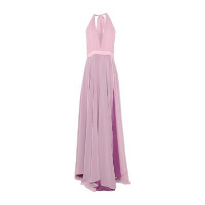 HH COUTURE ロングワンピース&ドレス ピンク S ポリエステル 100% / シルク ロングワンピース&ドレス