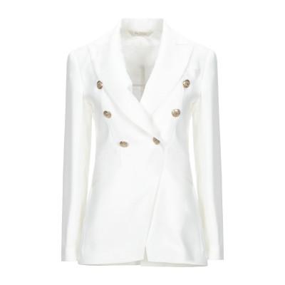 BOTTEGA MARTINESE テーラードジャケット ホワイト 42 ポリエステル 100% テーラードジャケット