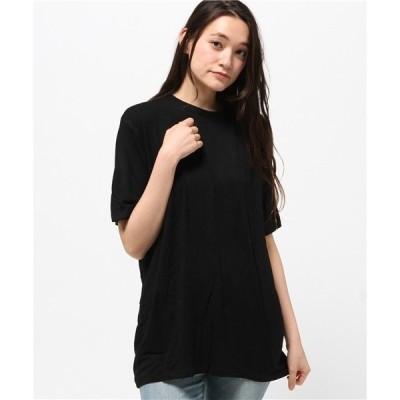 tシャツ Tシャツ スクープ ドロップショルダー ビッグシルエット Tシャツ