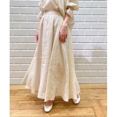 le.coeur blanc/ルクールブラン 麻ローンギャザースカート オフ 36