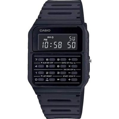 CASIO スタンダード CA-53WF-1B チプカシ DATABANK カリキュレーター マットブラック 反転液晶 電卓 デジタル 腕時計 チープカシオ
