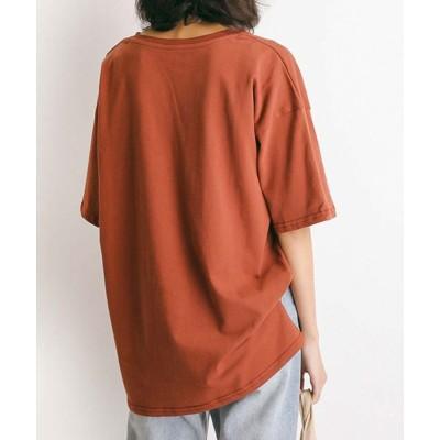 【アルゴトウキョウ】 コットン100%クルーネックコットンビッグTシャツ レディース ブラウン ワンサイズ ARGO TOKYO