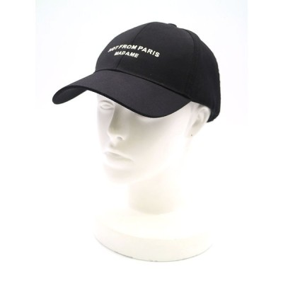 DROLE DE MONSIEUR ドロール ド ムッシュ Slogan Cap キャップ ブラック  メンズ