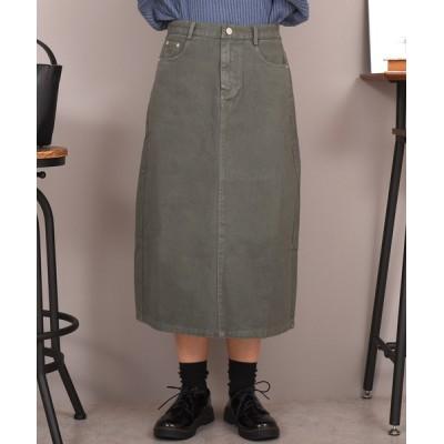 TeddyShop / レディース 裏起毛バックスリットデニムスカート WOMEN スカート > デニムスカート