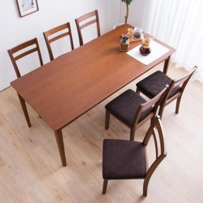 モダンダイニングテーブル+イス セット 170×80cm(オーク DBR) ニトリ 『配送員設置』 『1年保証』