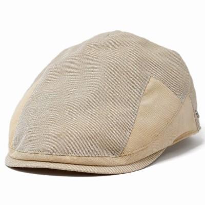 メンズ ハンチング 紳士 帽子 春夏 麻 hunting 大きいサイズ 小さいサイズ ベージュ