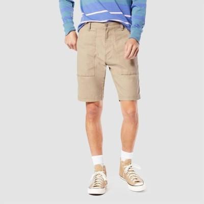 """リーバイス DENIZEN from Levi's メンズ ショートパンツ スキニー・スリム ボトムス・パンツ 10"""" Slim Fit Modern Utility Shorts Light Brown"""
