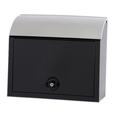 KGY ポスッチ シリンダー錠付 郵便ポスト A4対応 ブラック