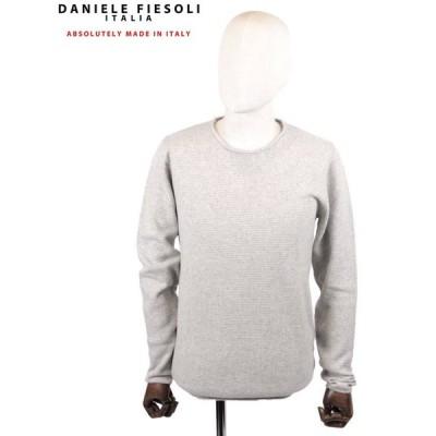 【国内正規品】DANIELE FIESOLI ダニエレフィエゾーリ カシミアクルーネックニット WS3115 GRAY グレー