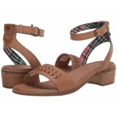 Sperry スペリー レディース 女性用 シューズ 靴 ヒール Seaport City Sandal Ankle Strap Woven Leather Tan【送料無料】