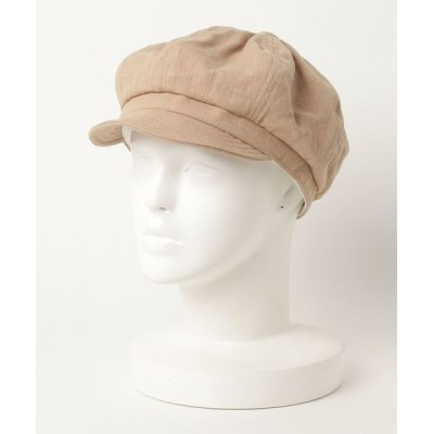 FUNALIVE / 【SI Original】LINEN CAS コットンリネン無地キャスケット帽 WOMEN 帽子 > キャスケット
