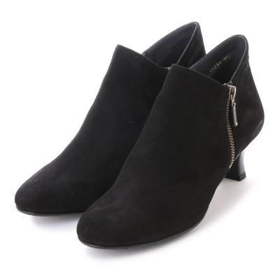 ビューフォートエレガンス BeauFort elegance 5センチヒール2E撥水ブーツ (ブラックスエード)
