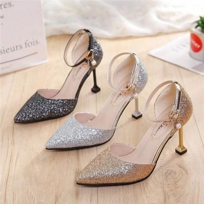 パンプスハイヒールピンヒールキャバ結婚式パーティーレディース靴歩きやすいキラキラ通勤美脚