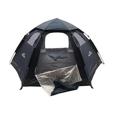 Hewflit ワンタッチテント ドームテント 5人用 簡単設営 組み立て簡単 アウトドア キャンプ 天窓付き (ネイビー 5人)