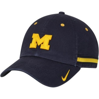 レディース スポーツリーグ アメリカ大学スポーツ Michigan Wolverines Nike Women's Heritage 86 Woven Stripe Adjustable Hat - Navy