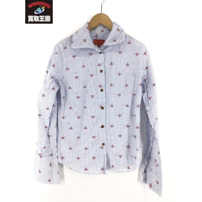 Vivienne Westwood red label 総柄オーブ ストライプシャツ (3)[▼]