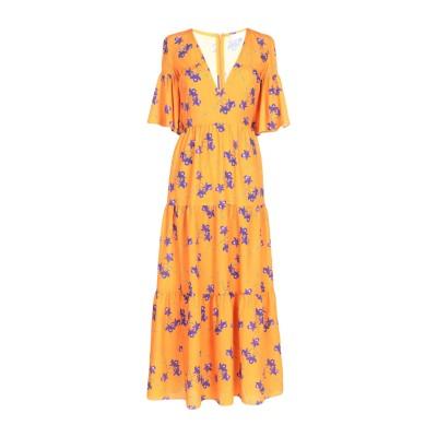 BORGO DE NOR 7分丈ワンピース・ドレス オレンジ 8 ポリエステル 100% 7分丈ワンピース・ドレス