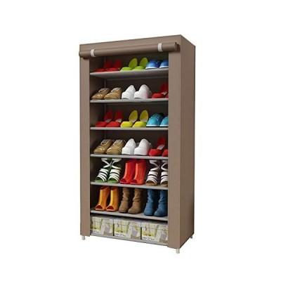 SIHOSTK 靴収納 シューズラック 靴箱 靴棚 カバー付き 7段 シューズラック シューズクローゼット 靴キャビネット 不織布 靴入れ シューズ