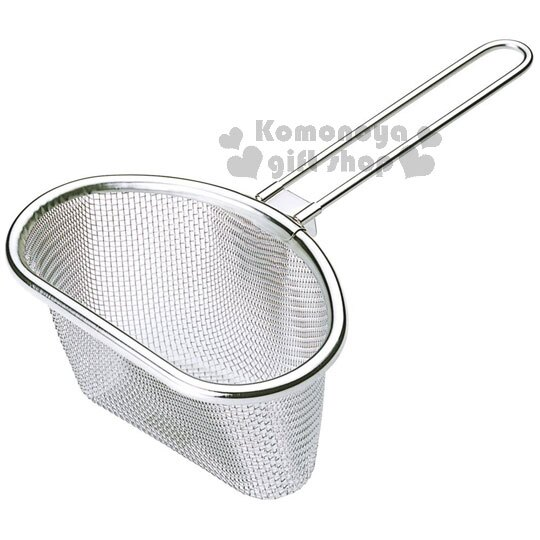 小禮堂 MAMA COOK 日製手柄不鏽鋼濾網《銀.半圓》