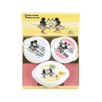 ディズニー ミッキー&ミニー ヴィンテージコミック 電子レンジ容器3点セット Disney MICKEY MOUSE MINNIE MOUSE
