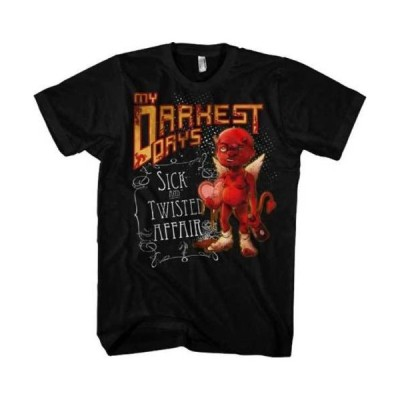 Tシャツ 海外バイヤーセレクト My Darkest Days Sick & Twisted Affair Licensed Adult T Shirt