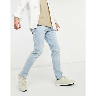 オンリーアンドサンズ スリム ジーンズ メンズ Only & Sons jeans in slim fit light blue エイソス ASOS ブルー 青