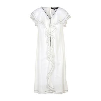カールラガーフェルド KARL LAGERFELD ミニワンピース&ドレス ホワイト 40 シルク 100% ミニワンピース&ドレス