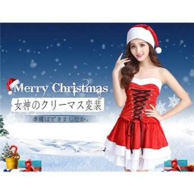 クリスマス 衣装 サンタ コスプレ サンタクロース 変装 編み系 レディース サンタ服 仮装 コスチューム パーティードレス 痩せ diz11711