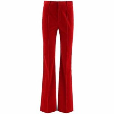 SAINT LAURENT PARIS/イヴ サンローラン Red Saint laurent corduroy trousers レディース 秋冬2020 633789 Y006R ik