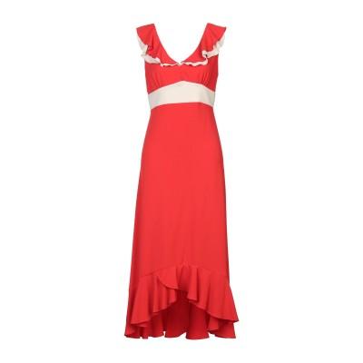 MR MASSIMO REBECCHI ロングワンピース&ドレス レッド XS ポリエステル 95% / ポリウレタン 5% ロングワンピース&ドレス
