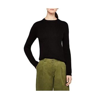 Meraki Women's Rib Crew Neck Sweater, Black, EU XL (US 12-14)並行輸入品 送料無料