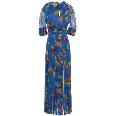 SUPER BLOND ロングワンピース&ドレス ブライトブルー 38 シルク 100% ロングワンピース&ドレス