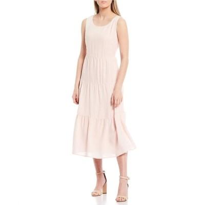 シュガーリップス レディース ワンピース トップス Tiered Sleeveless Midi Dress Blush