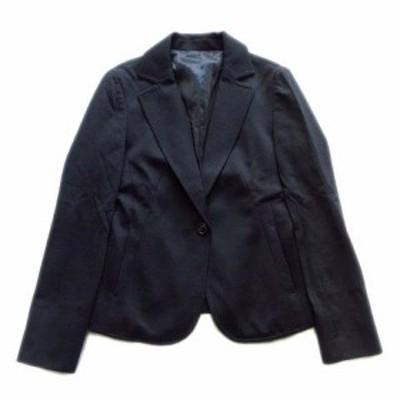 【中古】美品 クリアインプレッション CLEAR IMPRESSION テーラード ジャケット ブレザー 1B ウール ナイロン 1 黒