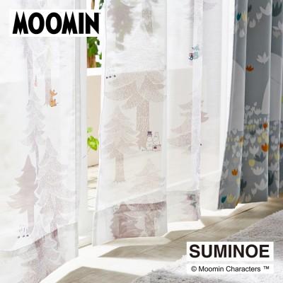 【58サイズ】プリントボイルカーテン・プート「ムーミン」(ムーミン/MOOMIN)