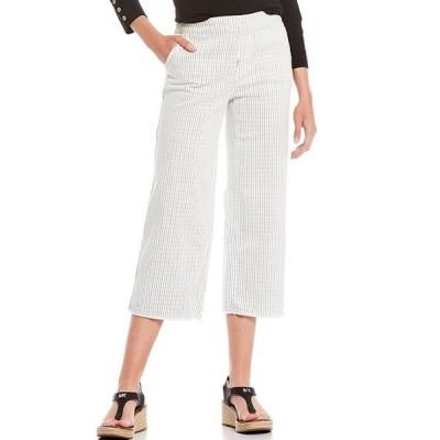 ウエストバウンド レディース カジュアルパンツ ボトムス the PARK AVE fit Stripe Wide Leg Crop Pants