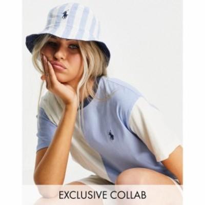 ラルフ ローレン Polo Ralph Lauren レディース Tシャツ トップス Collab Co-Ord Colourblock T-Shirt In Blue
