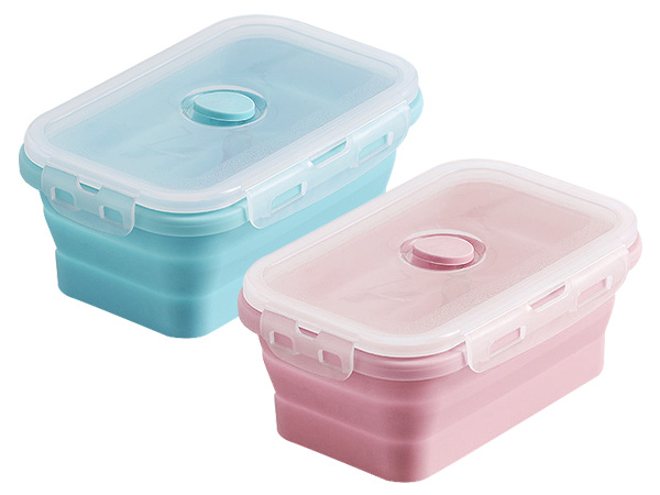環保矽膠折疊收納便當盒500ml(單入) 款式可選【D021451】
