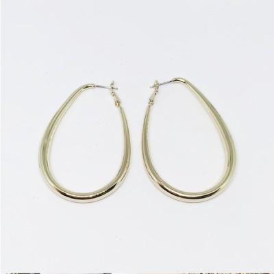 フープ カジュアル シンプル ピアス イヤリング 大ぶり ゴールド  Earrings  レディース