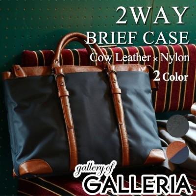 セール 2WAYブリーフケース ビジネスバッグ A4対応 2WAY バッグ メンズ gallery of GALLERIA ギャラリー オブ ギャレリア 本革 ナイロン G107-2005