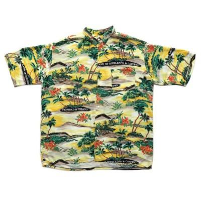 古着 トリニダードトバゴ製 アロハシャツ ハワイアンシャツ カリプソ サイズ表記:L