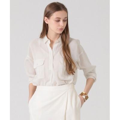 (MACKINTOSH LONDON/マッキントッシュ ロンドン)コットンボイルシャツ/レディース ホワイト