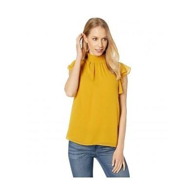 1.STATE ワンステート レディース 女性用 ファッション ブラウス Flutter Sleeve Smocked Neck Blouse - Honey Pot