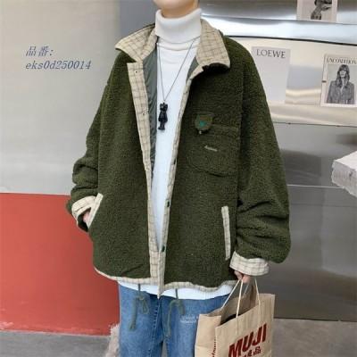 メンズ 中綿ジャケット コート 綿入れ カジュアル ショート チェック柄 上着 防寒 男子 アウター