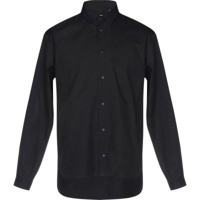 マウロ グリフォーニ MAURO GRIFONI メンズ シャツ トップス solid color shirt Black