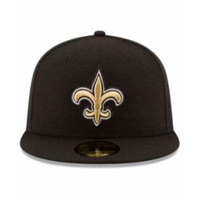 ニューエラ メンズ 帽子 アクセサリー New Orleans Saints Team Basic 59FIFTY Fitted Cap Black/Black